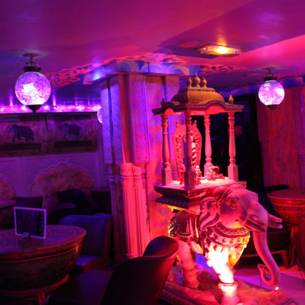 The bar at the suncity gay sauna Paris