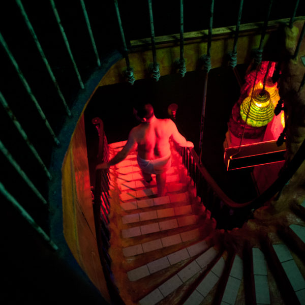 Escalier vers le sauna © Panayis Chrysovergis